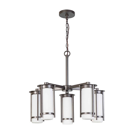 Eglo Truxton 5 Light 24 inch Graphite Chandelier Ceiling Light