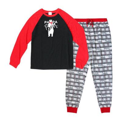 Holiday FAMJAMS Fairisle Bear 2 Piece Pajama Set -Men's