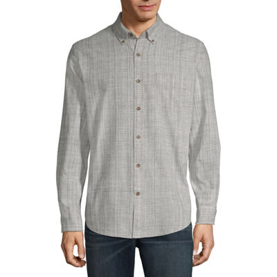 St. John's Bay Long Sleeve Button-Front Shirt-Slim