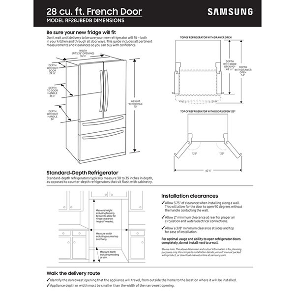 Samsung 28 cu. ft. 4-Door French Door Food Showcase Refrigerator