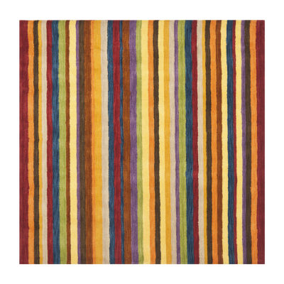 Safavieh Himalaya Collection Adolf Striped SquareArea Rug