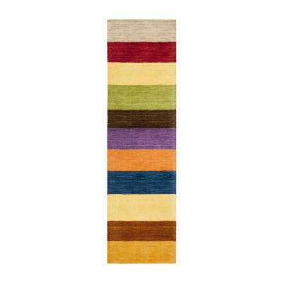 Safavieh Himalaya Collection Jessalyn Striped Runner Rug