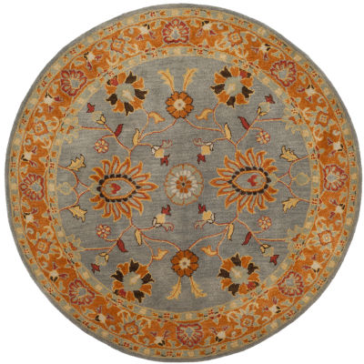 Safavieh Heritage Collection Vithya Oriental Round Area Rug