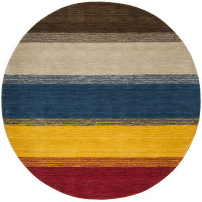 Safavieh Himalaya Collection Ilarion Striped RoundArea Rug