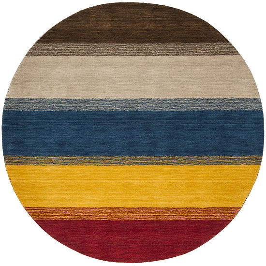 Safavieh Himalaya Collection Ilarion Striped Round Area Rug
