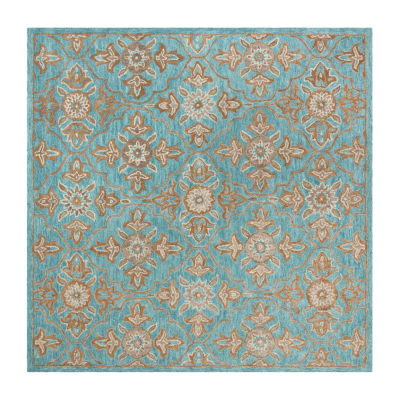 Safavieh Heritage Collection Merrill Damask Square Area Rug