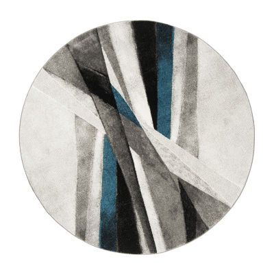 Safavieh Hollywood Collection Richard Abstract Round Area Rug