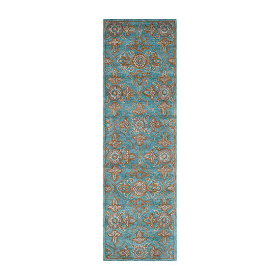 Safavieh Heritage Collection Merrill Damask Runner Rug