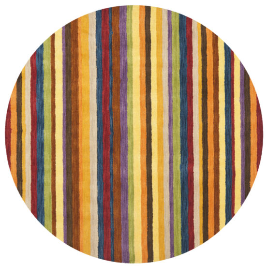 Safavieh Himalaya Collection Adolf Striped Round Area Rug