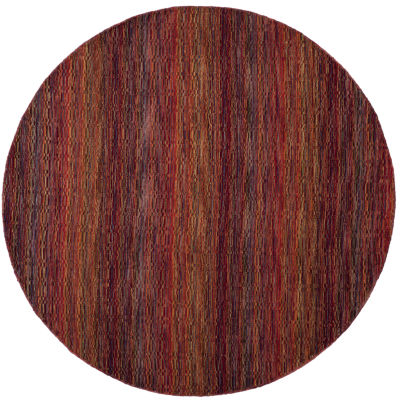 Safavieh Himalaya Collection Lysette Striped RoundArea Rug