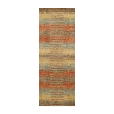 Safavieh Himalaya Collection Garnet Geometric Runner Rug