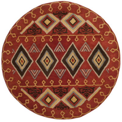 Safavieh Heritage Collection Ruth Geometric RoundArea Rug