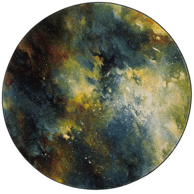 Safavieh Galaxy Collection Zoe Geometric Round Area Rug