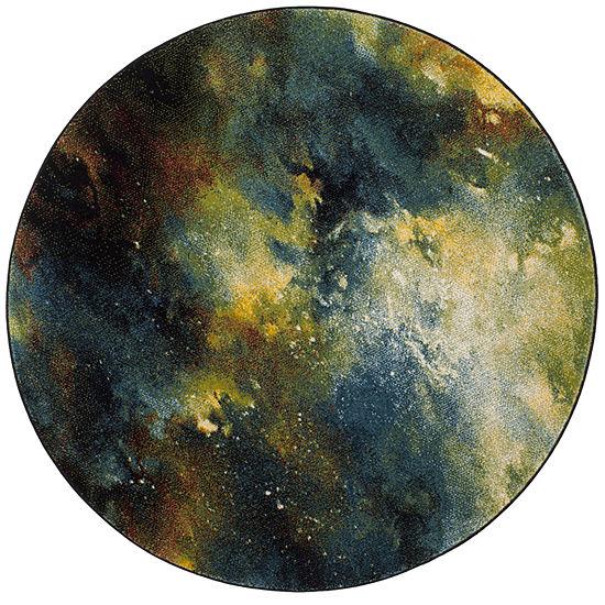 Safavieh Galaxy Collection Zoe Geometric Round Area Rug