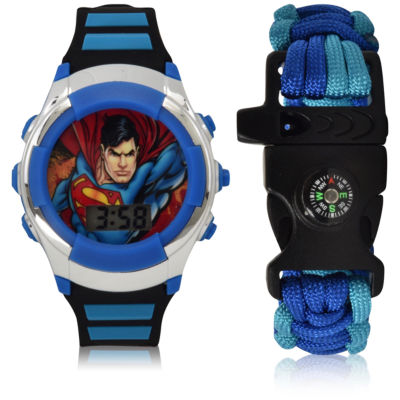 Holiday 2018 Superman Unisex Multicolor Strap Watch-Sup40015jc