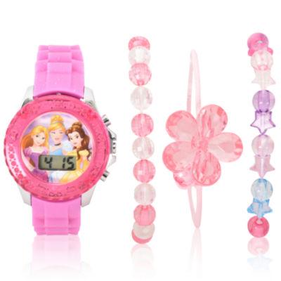 Disney Princess Holiday 2018 Unisex Pink Strap Watch-Pn40023jc