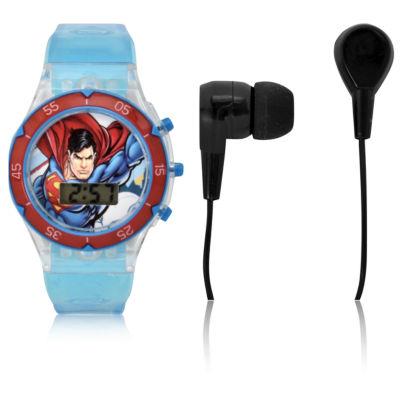 Holiday 2018 Superman Unisex Blue Strap Watch-Sup40016jc