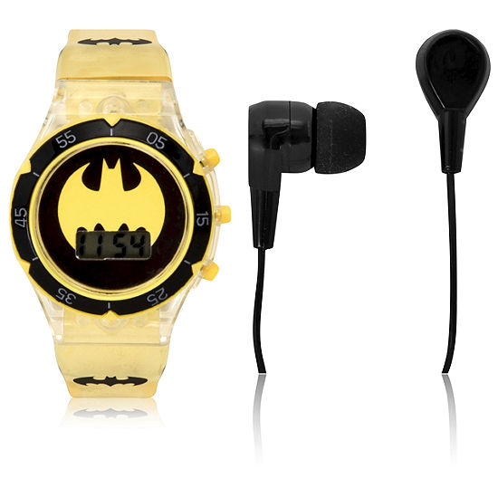 Batman Boys Automatic Yellow Watch Boxed Set-Bat40038jc