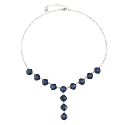 Monet Jewelry Womens Blue Y Necklace