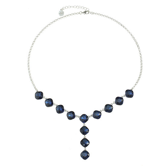 Monet Jewelry Blue 20 Inch Cable Y Necklace
