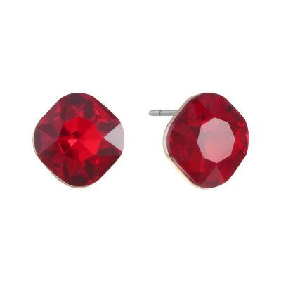 Monet Jewelry Red 13.5mm Stud Earrings