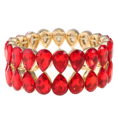 Monet Jewelry Womens Red Stretch Bracelet