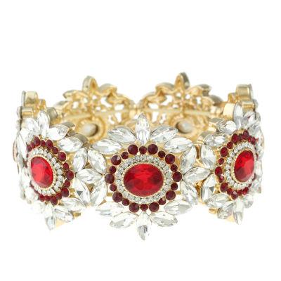 Monet Jewelry Womens Red Stretch Bracelet