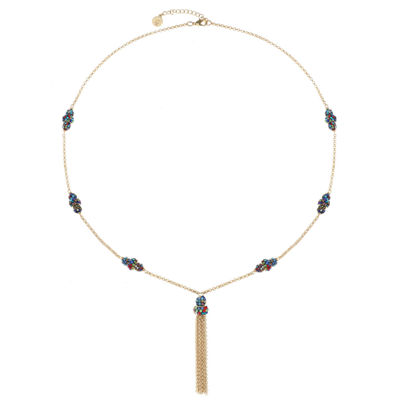 Liz Claiborne Womens Multi Color Pendant Necklace