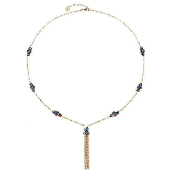 Liz Claiborne Multi Color 32 Inch Cable Pendant Necklace