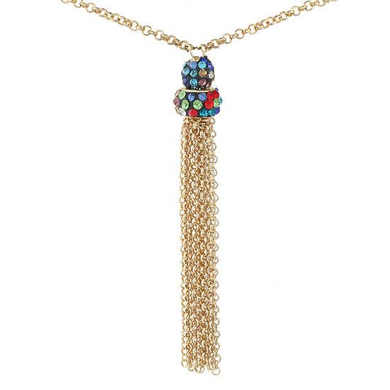 Liz Claiborne 32 Inch Cable Pendant Necklace