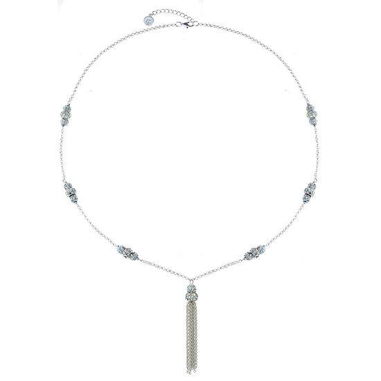 Liz Claiborne White 32 Inch Cable Pendant Necklace