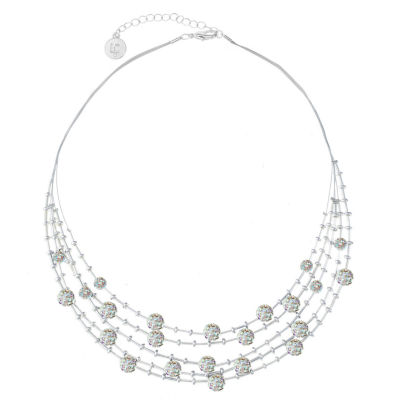 Liz Claiborne Womens White Illusion Necklace