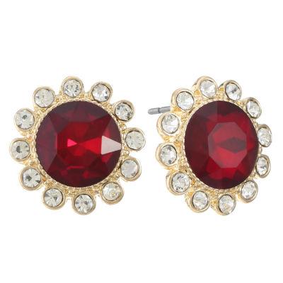 Monet Jewelry Red 17mm Stud Earrings