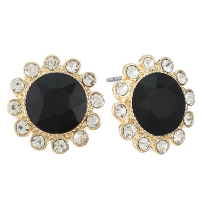 Monet Jewelry Black 17mm Stud Earrings