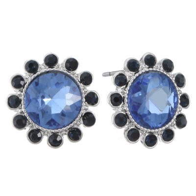 Monet Jewelry Blue 17mm Stud Earrings