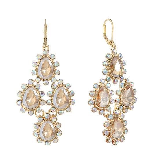 Monet Jewelry Brown Chandelier Earrings