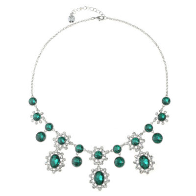 Monet Jewelry Womens Green Statement Necklace