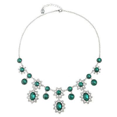 Monet Jewelry Womens Green Statement Necklace