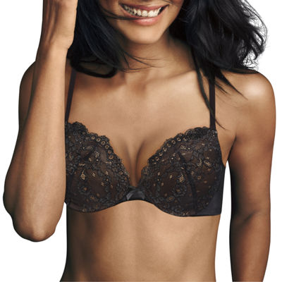 Maidenform Love The Lift Lace Cup Underwire Demi Plunge Push Up Bra-Dm9900