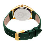 Burgi Womens Diamond Accent Green Leather Strap Watch-B-201gn