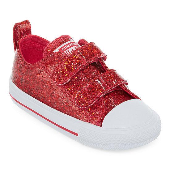 Converse Ctas 2v Toddler Girls Hook and Loop Sneakers