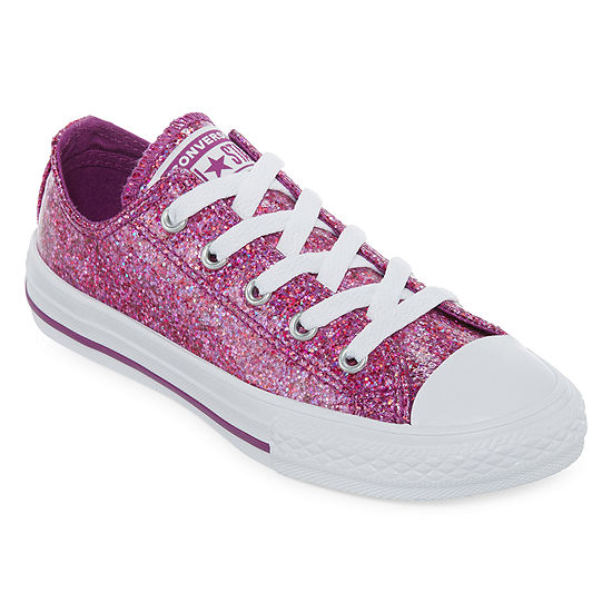 b35f134e37e ... clearance converse chuck taylor all star party dress girls ox sneakers  lace up little kids eb750