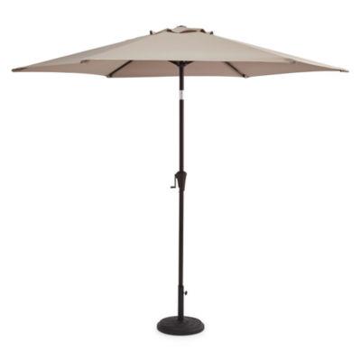 Outdoor Oasis 9-Ft Cranktilt Market Patio Umbrella