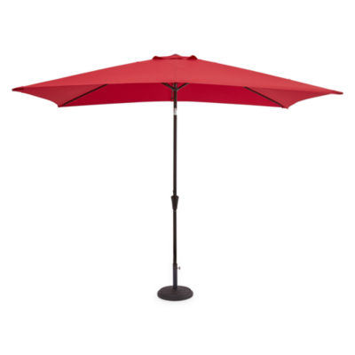 Outdoor Oasis 10-Ft X 6-Ft Rectagular Cranktilt Market Patio Umbrella