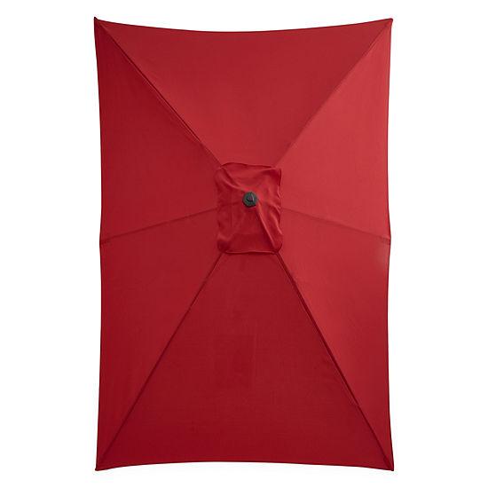 Outdoor Oasis 10-Ft X 6-Ft Rectagular Cranktilt Market Patio Umbrella