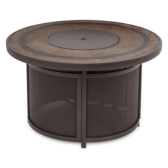 Outdoor Oasis Faux Stone Fire Pit