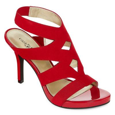 east 5th Womens Joan Pumps Buckle Open Toe Stiletto Heel