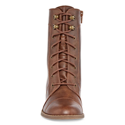 Arizona Womens Keela Lace Up Boots Block Heel Lace-up