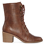 Arizona Womens Keela Lace Up Boots Block Heel