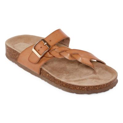 Arizona Fulton Womens T-Strap Footbed Sandals